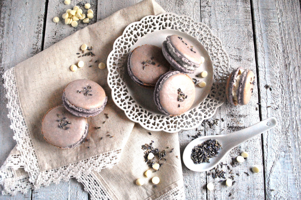 Lavender and White Chocolate Macarons
