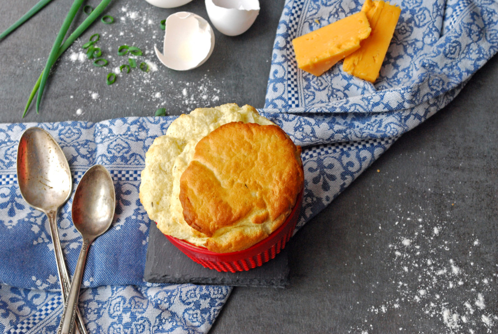 Cheese Soufflé with Garlic and Thyme
