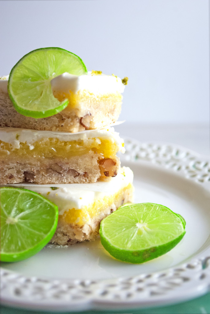 Key Lime Bars with Pecan Shortbread Crust