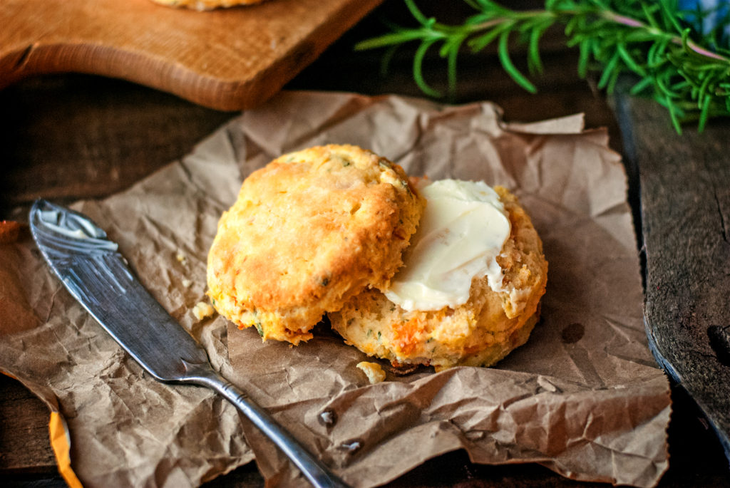 Sweet Potato Rosemary Biscuits – Cookies for England