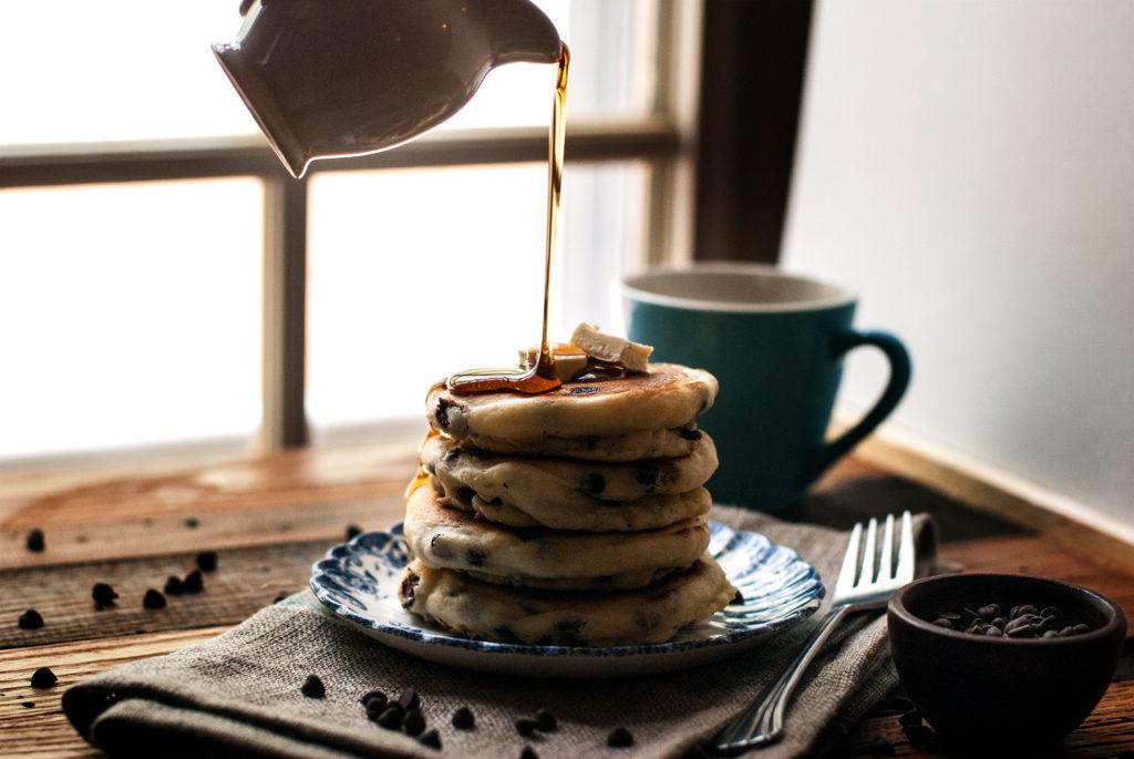 Fluffy Chocolate Chip Pancakes