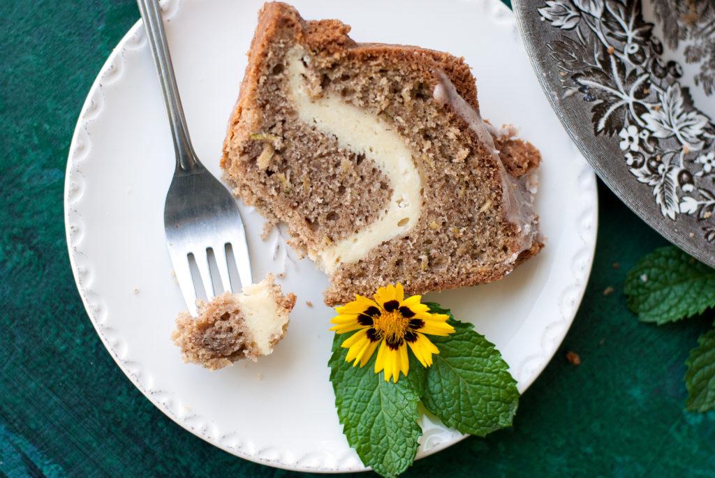 Zucchini Cream Cheese Bundt Cake