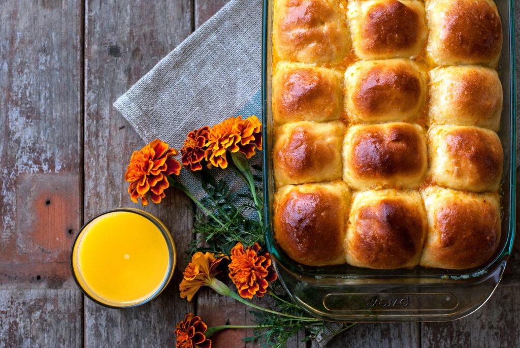 Orange Dinner Rolls