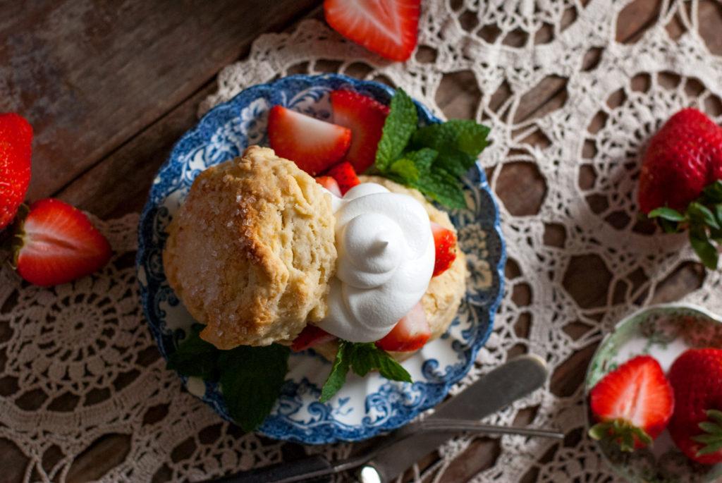 Strawberries and Cream Scones